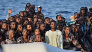 Boat refugees from Africa